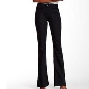 7 For Mankind Black Braided High Waist Flare Jeans